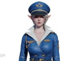 کاراکتر انیمیشنی دختر درلباس پرواز