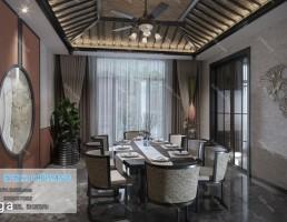 اتاق غذاخوری سبک آسیایی