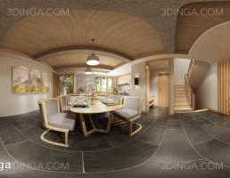 صحنه داخلی آشپزخانه به سبک پاروناما