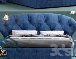 ست تخت خواب آبی
