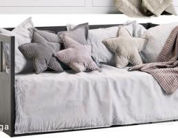 تختخواب با قاب پشتی و ذخیره سازی