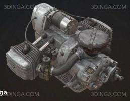 مدل سه بعدی موتور دستگاه