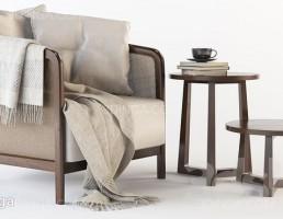صندلی راحتی + میز قهوه