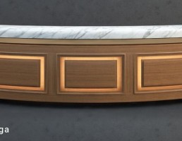 میز کمدی چوبی