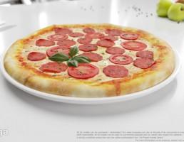 بشقاب + پیتزا