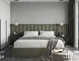 صحنه داخلی اتاق خواب مدرن
