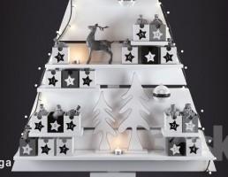 باکس دیواری به شکل درخت کریسمس