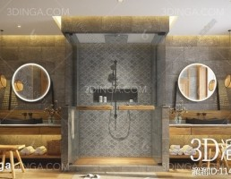 صحنه داخلی حمام سبک آسیای جنوب شرقی