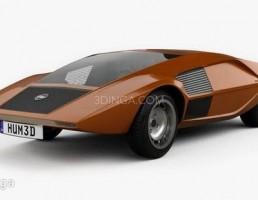 ماشین لانسیا مدل Stratos Zero سال 1970
