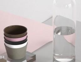 مدل سه بعدی ست بطری آب و لیوان
