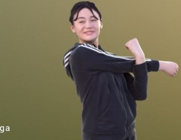 کاراکتر زن ورزشکار