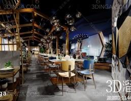 صحنه داخلی رستوران پست مدرن