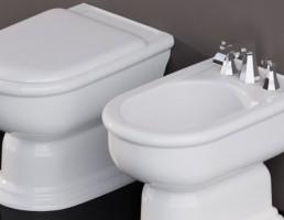 توالت فرنگی + روشویی Fidia