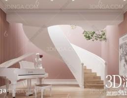 صحنه داخلی سالن  سبک اروپایی