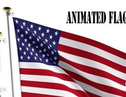 پرچم متحرک آمریکا
