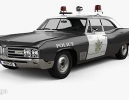 ماشین پلیس بیوک مدل Wildcat  سال 1968