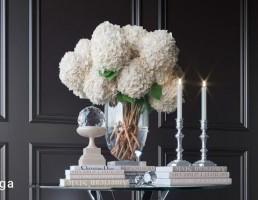 گلدان گل + وسایل تزیینی