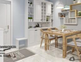 آشپزخانه و غذاخوری  سبک شمالی 9