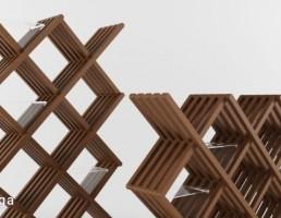 باکس دیواری چوبی