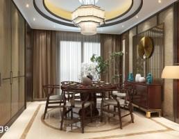 نمای داخلی اتاق نهارخوری