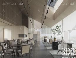 صحنه داخلی سالن پذیرش و انتظار سبک چینی