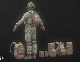 تجهیزات کامل سرباز