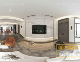 صحنه داخلی پانورامای فضای مسکونی