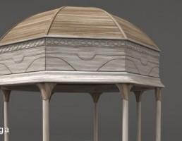 سایبان چوبی کلاسیک