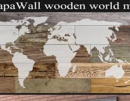 نقشه دیواری چوبی
