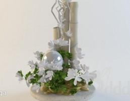 گلدان + گل
