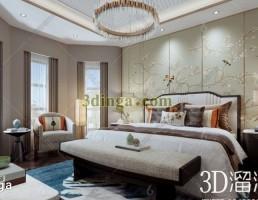 صحنه داخلی اتاق خواب چینی