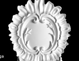گچبری به شکل گل