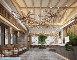 لابی هتل سبک آسیای جنوب شرقی