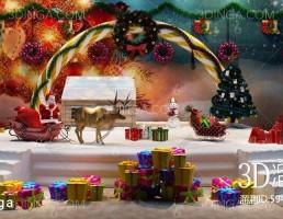 مدل سه بعدی صحنه کریسمس
