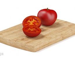تخته برش + گوجه فرنگی