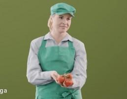 کاراکتر زن میوه فروش