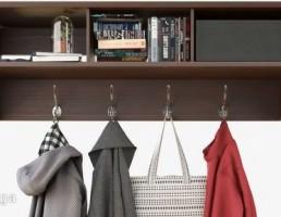 قفسه کتاب + رخت آویز