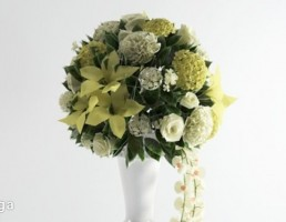 گلدان + گل تزیینی