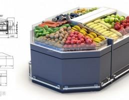 قفسه های سبزیجات مغازه