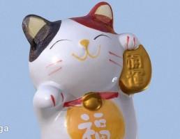 مجسمه گربه مانکی
