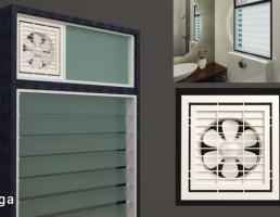 پنجره حمام + فن