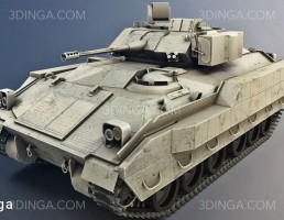 مدل سه بعدی ماشین نظامی