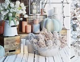 گلدان + گل لاله + شمع + شمعدان