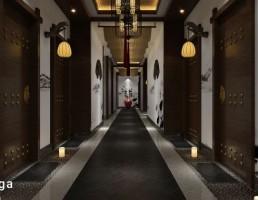 صحنه داخلی راهرو هتل