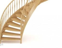 راه پله چوبی مارپیچ