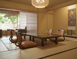 اتاق نشیمن ژاپنی