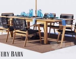 ست میز و صندلی فضای باز + سایبان