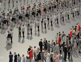 کالکشن مدل سه بعدی جمعیت مردم