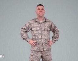 کاراکتر مرد در یونیفرم نظامی