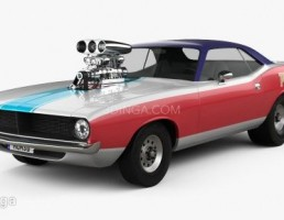 ماشین Plymouth مدل Barracuda Dragster سال 1974